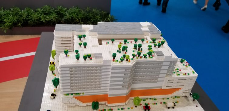 A model of the Funan shopping center in Singapore.
