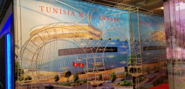 A model of one of two rollercoasters Groupe Chaabane plans to build in Tunisia.