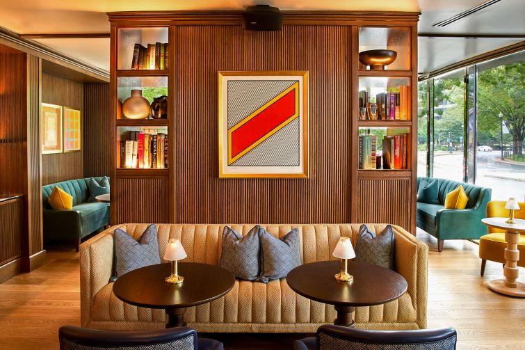 The renovated bar at the Dupont Circle Hotel