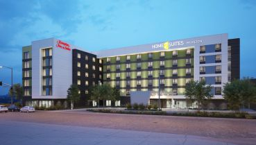 The dual-branded hotel property.