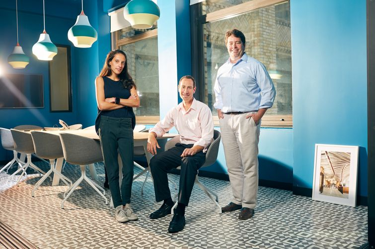 From left: AnnyRose Pahl, Brian Steinwurtzel and Eric Gural, principals of GFP Real Estate, have a reputation of being a good landlord for nonprofits.