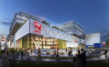 Livat shopping center, being developed by Ingka Centres, in Shanghai.