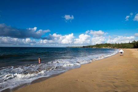 A beach in Kapalua on the Hawaiian island of Maui.