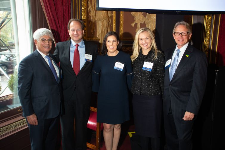 From left to right, Jay Neveloff, David Durning, Kara McShane, Abbe Franchot and Gregg Gerken.