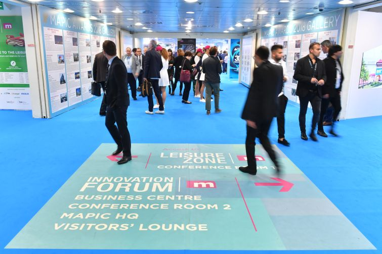 The exhibition area of MAPIC 2018.