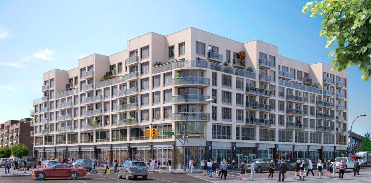 A rendering of The Elm West in Elmhurst, Queens.
