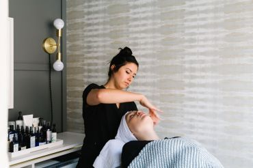 A skin therapist at Heyday's branch on the Upper East Side of Manhattan.