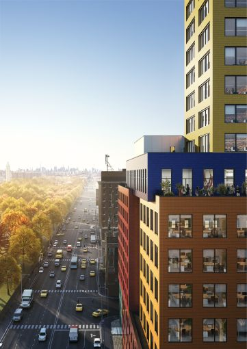 The hotel-and-office project will rise in a very visible spot that's expected to draw in tourists from the nearby George Washington Bridge and Harlem River Drive.