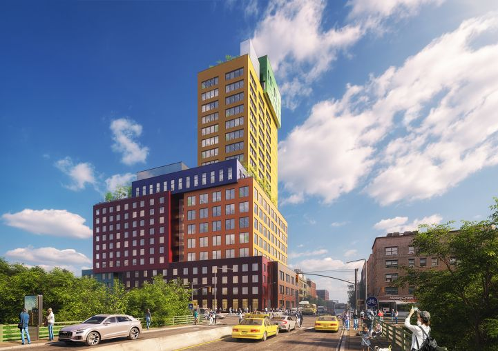 The Radio Tower & Hotel at 2420 Amsterdam Avenue will be one of the first commercial high-rises to be built in Washington Heights in decades.