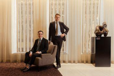 Emmanuel Verhoosel (standing) and Greg Murphy (sitting).