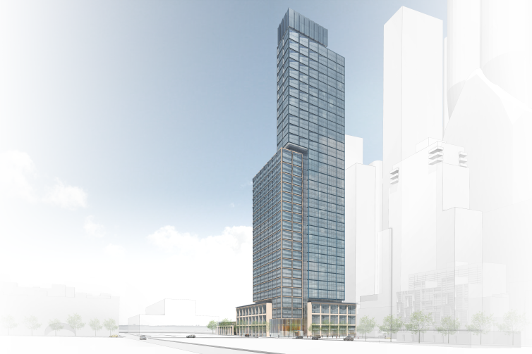 A rendering of 601 West 29th Street.