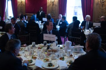The luncheon at Commercial Observer's 3rd annual finance forum discussing opportunity zones.