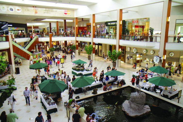 The interior of Aventura Mall.
