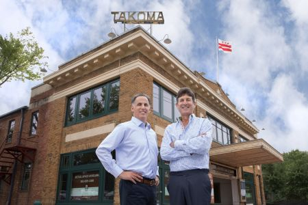 Rock Creek co-founders Gary Schlager and Andy Glick at the Takoma Theatre