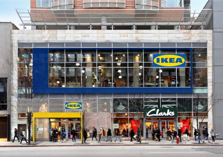 Ikea's small format store at 999 Third Avenue on the Upper East Side.