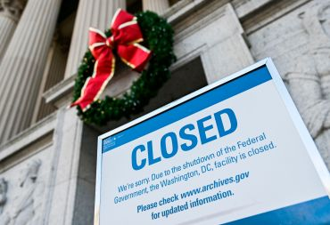 The National Archives in Washington, D.C., was closed because of a government shutdown.