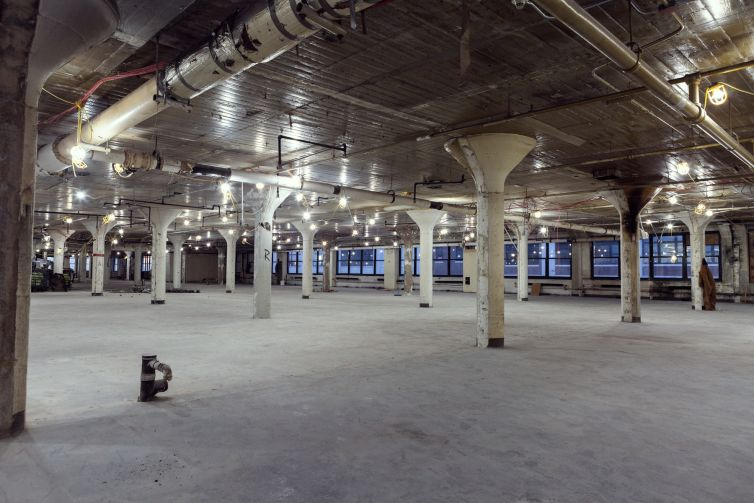 The top floor of Falchi has 90,000 square feet of open space that was recently vacated by a jewelry maker.