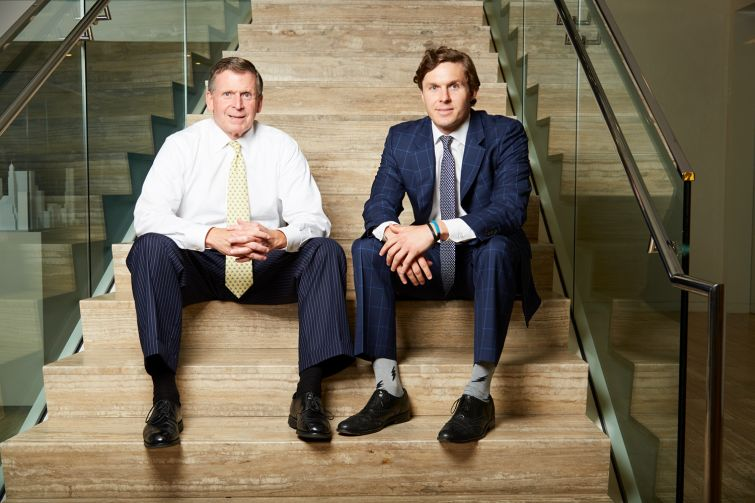 Robert Alexander (left) and his son Ryan Alexander are the brokers behind some huge deals at CBRE.