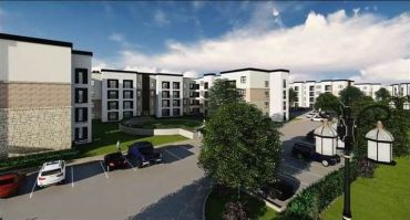A rendering of the project in Garland, Texas.