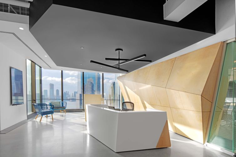 Each company got to customize their reception area to reflect their brand.