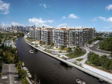 A rendering of the Miami River Walk project.