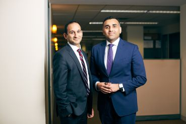 Paimaan Lodhi (left) and Reggie Thomas are the new REBNY data experts.