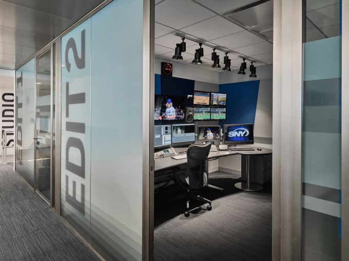An editing suite for SportsNet.