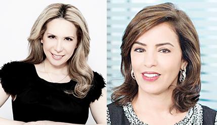 Evi Kokalari-Angelakis (left) and Maha Al-Ghunaim (right)