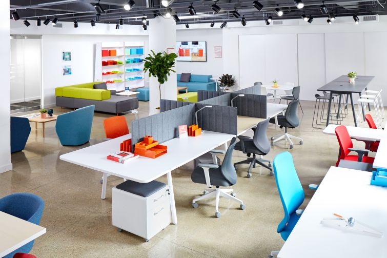 Poppin also revamped its showroom, which is adjacent to its office in 16 Madison Square West.