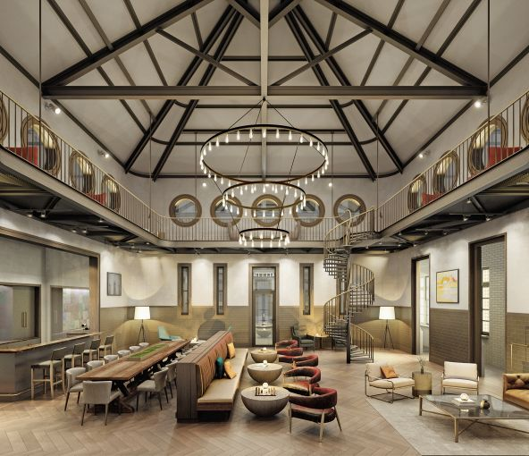 Carriage house interior.