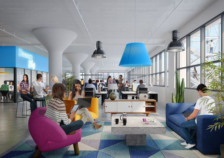 A look at the potential office interiors at The Breeze.