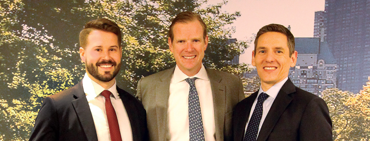 Avison Young's Tri-State Investment Sales Group: Erik Edeen, James Nelson, Jim Kinsey