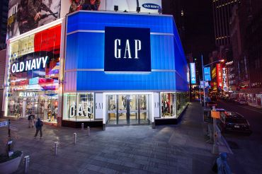 Gap and Old Navy in Times Square.
