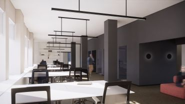 A rendering of Breather's new space at 322 Eighth Avenue.