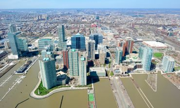 Aerial view of Jersey City waterfront