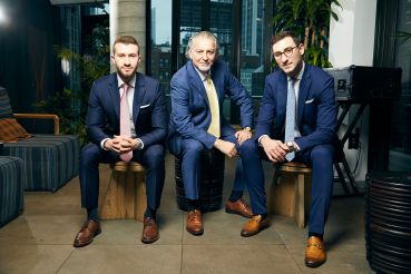 From left: Christopher Devli, Erol Devli and Mark Devli. The family got its start in the handbag business but have recently branched out into developing hotels.