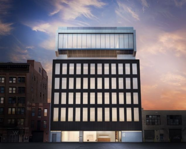 A rendering of the front of 540 Wet 25th Street, the new home of a Pace Gallery.