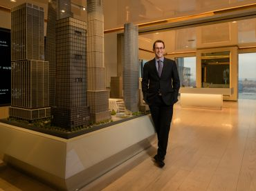 Jeff Blau, the CEO of Related, inside the company's offices at 10 Hudson Yards.