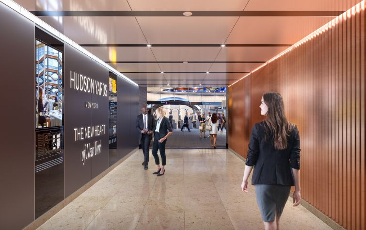 Tenants will have a direct connection from the Hudson Yards subway station to their offices.