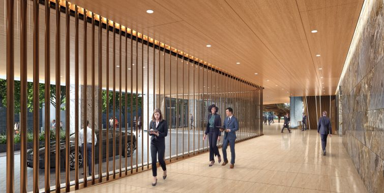 The 2.9-million-square-foot building will have a porte cochere, otherwise known as a covered driveway, with valet parking for cars and bikes.