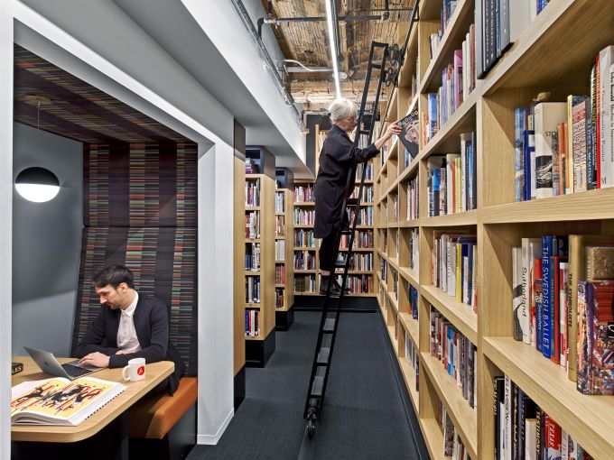 Spacesmith, one of our firms to watch, designed the offices of art publisher Abrams Books.