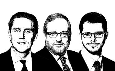 Evan Hudson, Mayer Greenberg and Brian Senie.