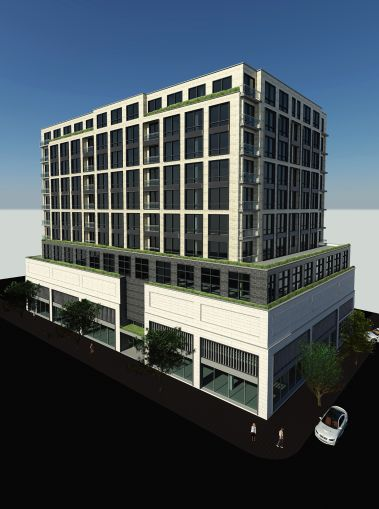 A rendering of the condo project in Forest Hills.
