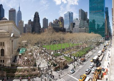 """BRYANT PARK WAS NICKNAMED """"NEEDLE PARK"""" IN THE 1970S BECAUSE OF ITS POPULARITY AMONG DRUG USERS. IT'S NOW BECAME ONE OF THE BIGGEST AMENITIES NEARBY LANDLORDS CAN OFFER OFFICE TENANTS."""