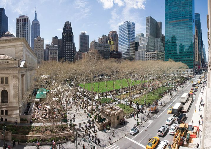"BRYANT PARK WAS NICKNAMED ""NEEDLE PARK"" IN THE 1970S BECAUSE OF ITS POPULARITY AMONG DRUG USERS. IT'S NOW BECAME ONE OF THE BIGGEST AMENITIES NEARBY LANDLORDS CAN OFFER OFFICE TENANTS."