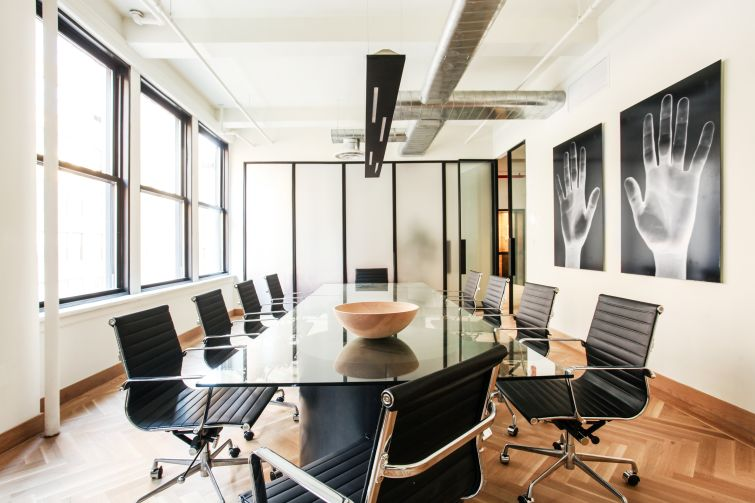 Williamsburg-based ASH NYC designed this office at 3 East 28th Street, along with a number of hotels and other commercial projects.