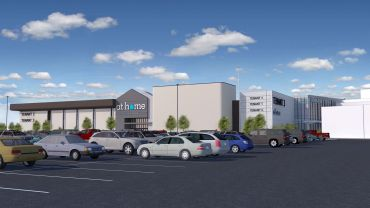 A rendering of the completed redevelopment of the Macy's store at The Shops at Nanuet.