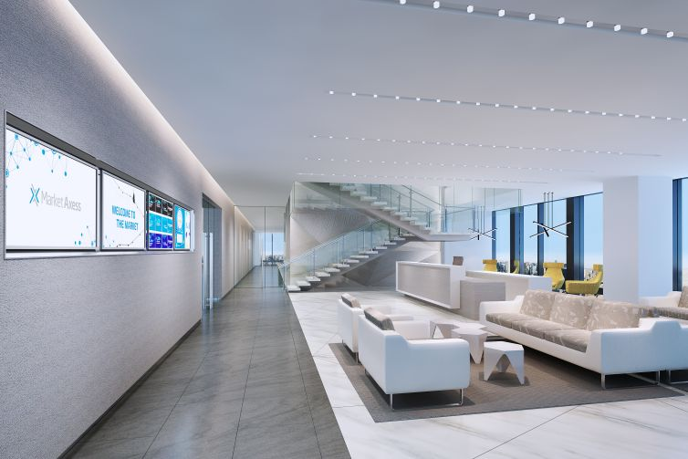 Spacesmith oversaw the design of MarketAxess' new offices at Hudson Yards.