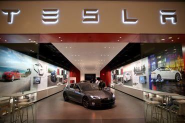 A Tesla showroom in Miami.