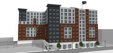 A rendering of The Caldwell in downtown Lynn, Mass.